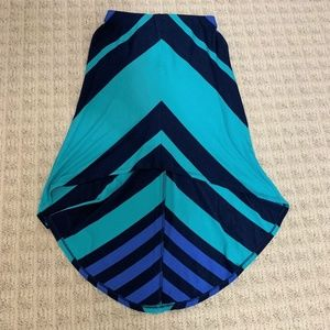 Bebe casual skirt with blue stripes